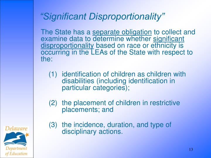 """""""Significant Disproportionality"""""""