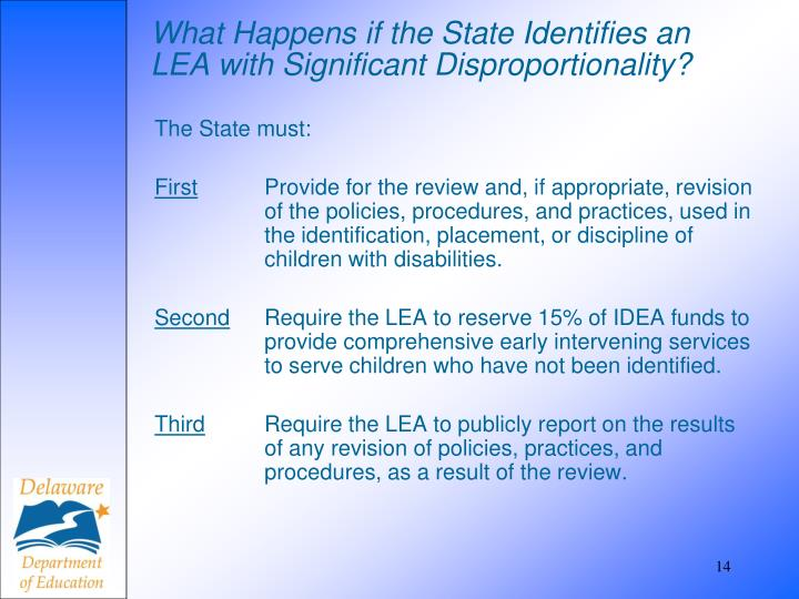 What Happens if the State Identifies an LEA with Significant Disproportionality?