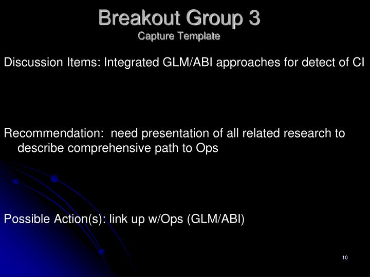 Breakout Group 3