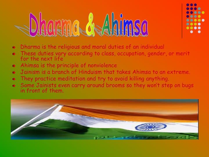 Dharma & Ahimsa