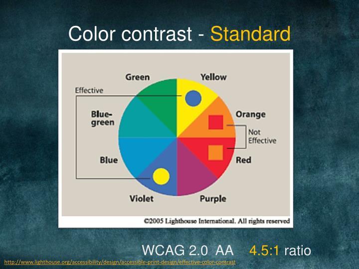 Color contrast -
