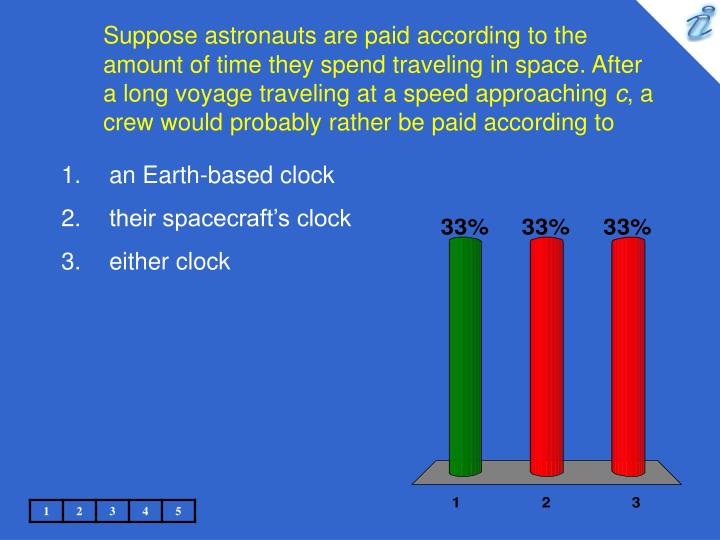Suppose astronauts are paid according to the amount of time they spend traveling in space. After a long voyage traveling at a speed approaching