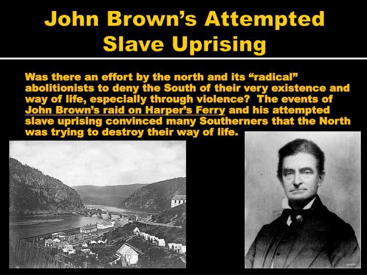 John Brown's Attempted Slave Uprising