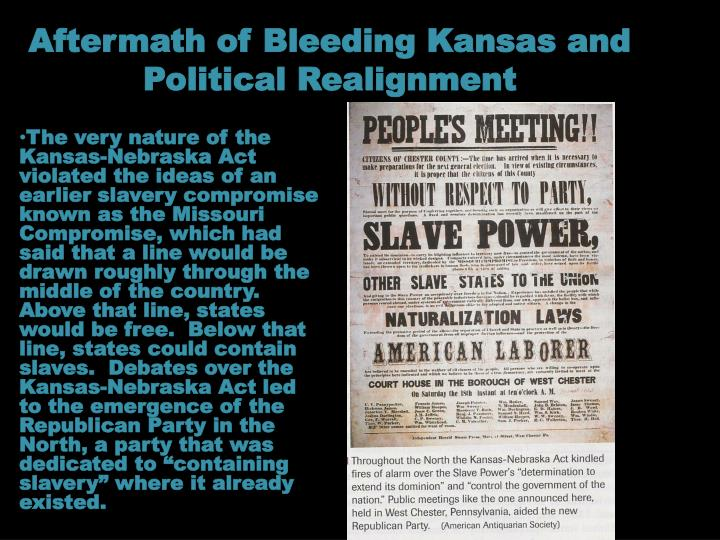 Aftermath of Bleeding Kansas and Political Realignment