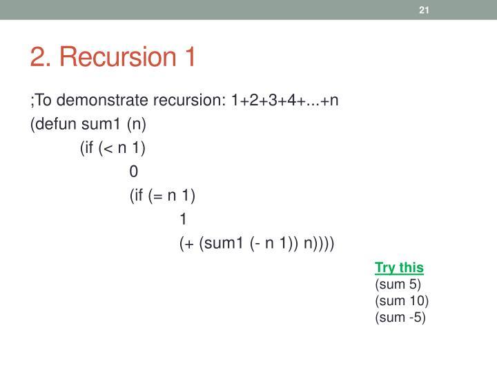 2. Recursion 1