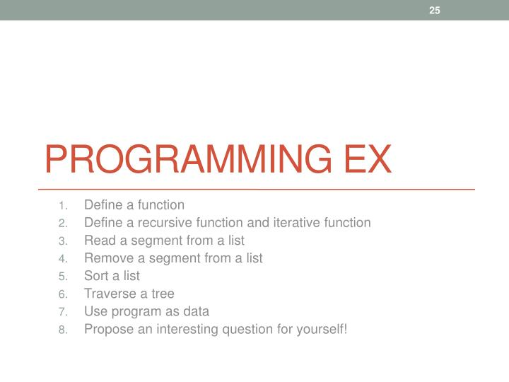 Programming Ex