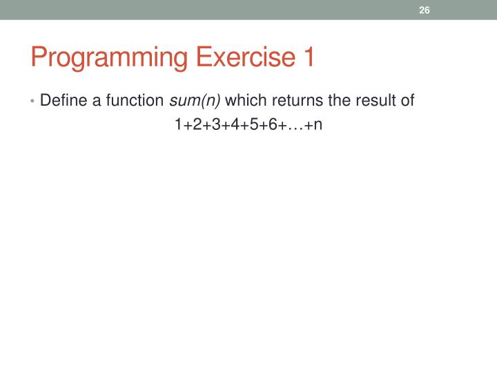 Programming Exercise 1