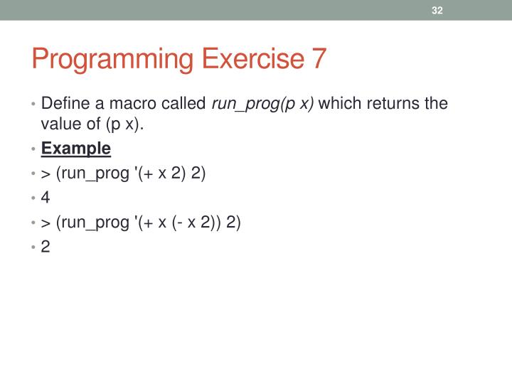 Programming Exercise 7