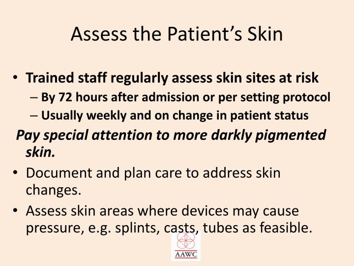 Assess the Patient's Skin
