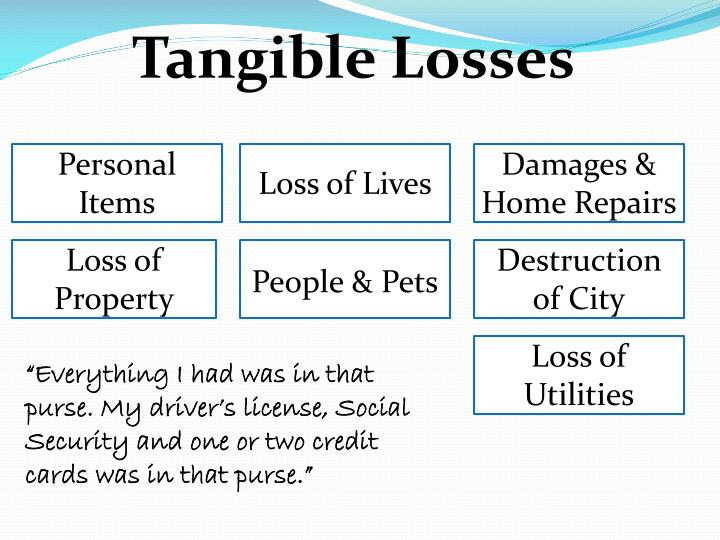 Tangible Losses