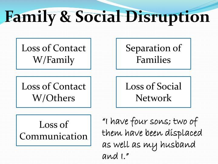 Family & Social Disruption