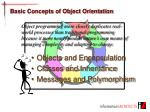 basic concepts of object orientation