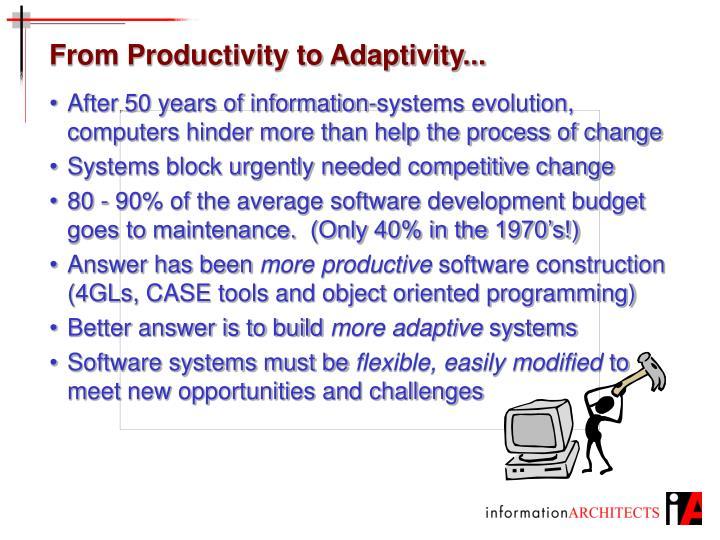 From Productivity to Adaptivity...