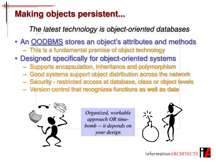 Making objects persistent...