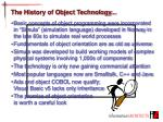 the history of object technology