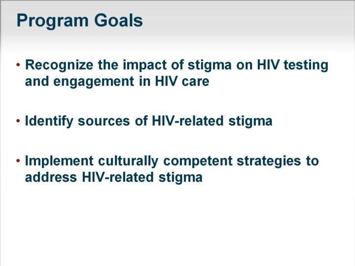 Program Goals