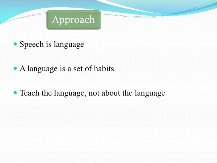 Speech is language
