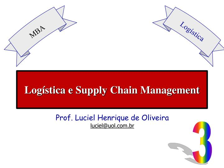Log stica e supply chain management