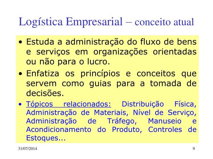 Logística Empresarial –
