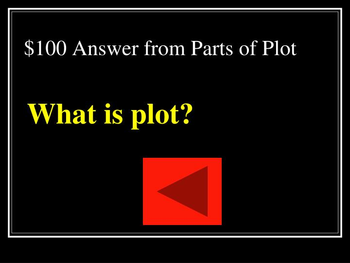 $100 Answer from Parts of Plot