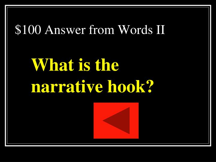 $100 Answer from Words II