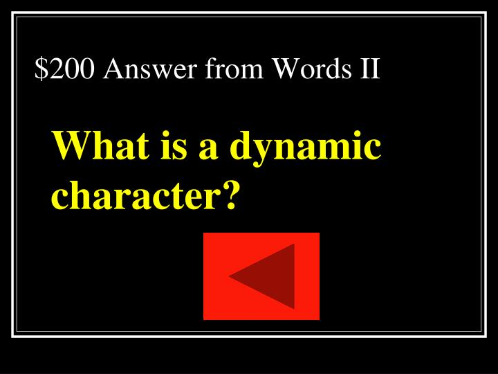 $200 Answer from Words II