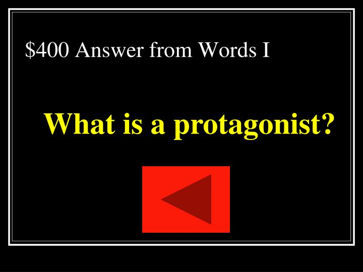 $400 Answer from Words I