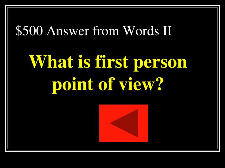 $500 Answer from Words II