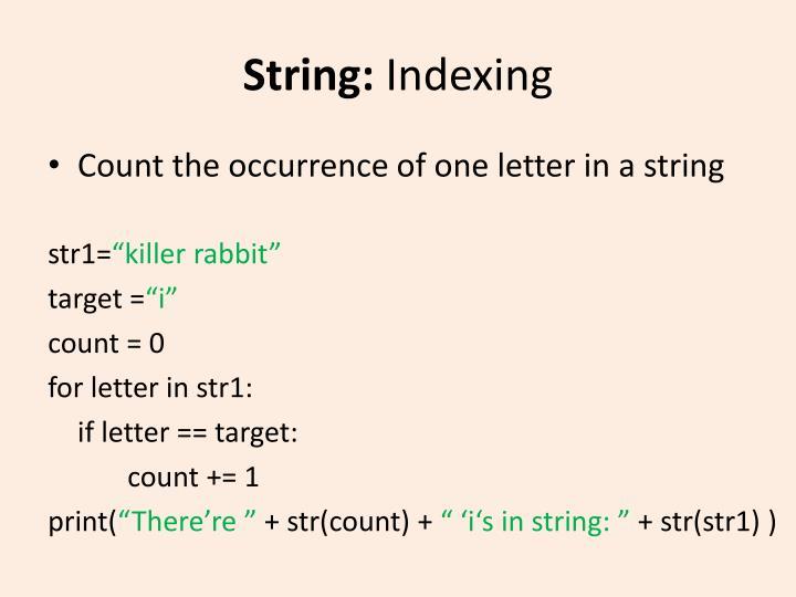 String: