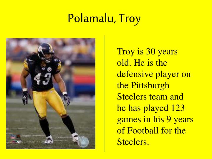 Polamalu, Troy