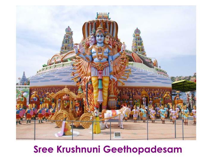 Sree Krushnuni Geethopadesam