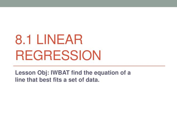 8 1 linear regression