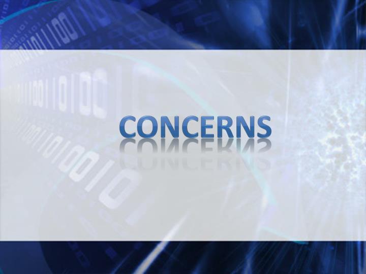concerns