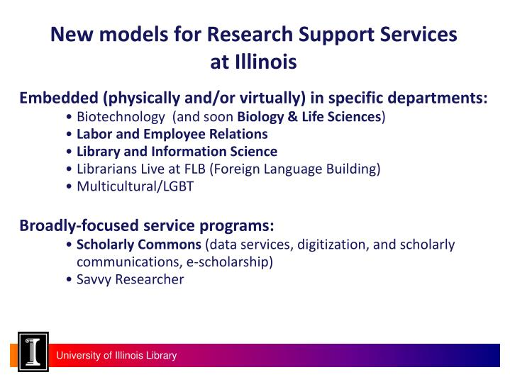 New models for Research Support Services