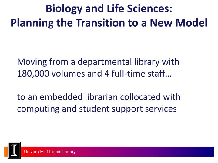 Biology and Life Sciences: