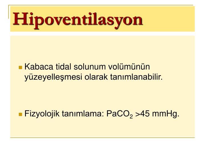 Hipoventilasyon