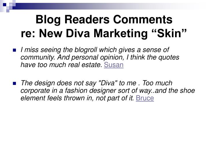 Blog Readers Comments