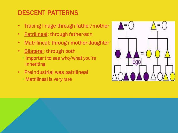 Descent patterns