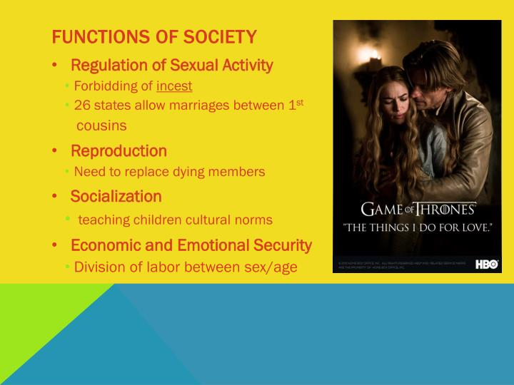 Functions of society