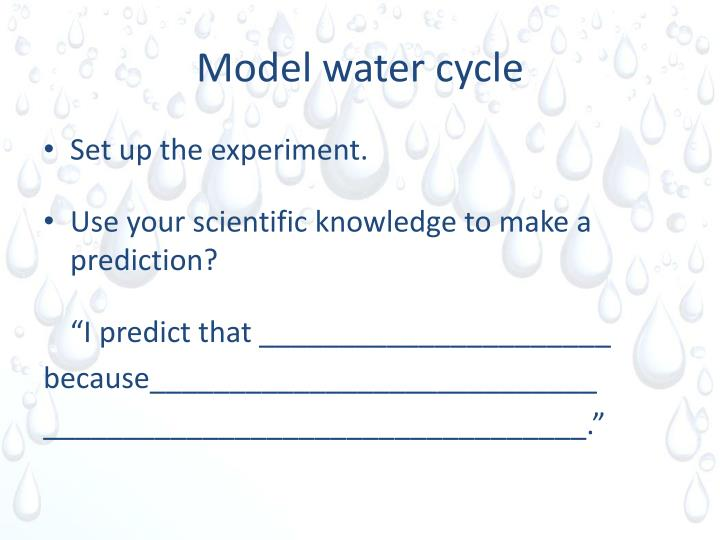 Model water cycle