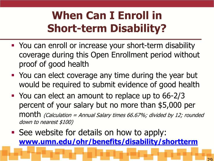 Short Term Disability : Ppt open enrollment update uplan changes for