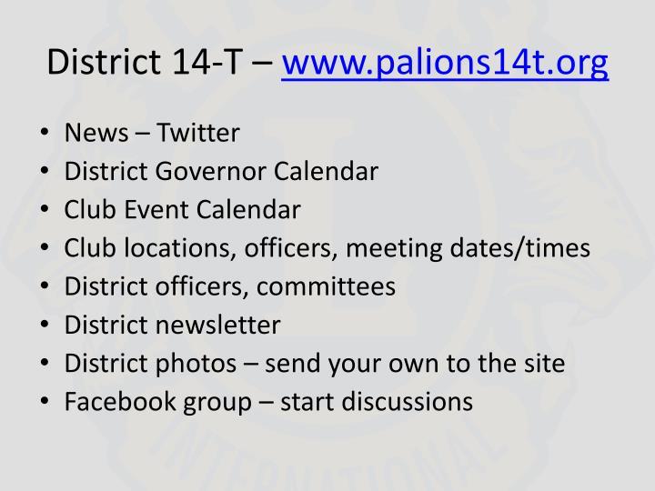 District 14-T –