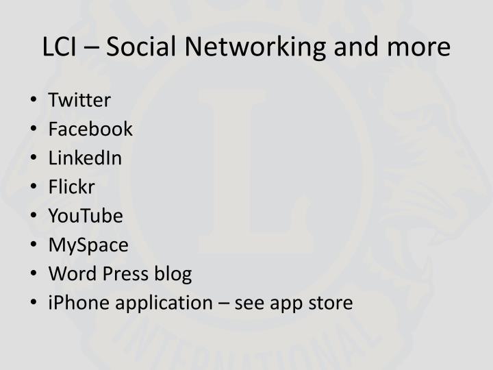 LCI – Social