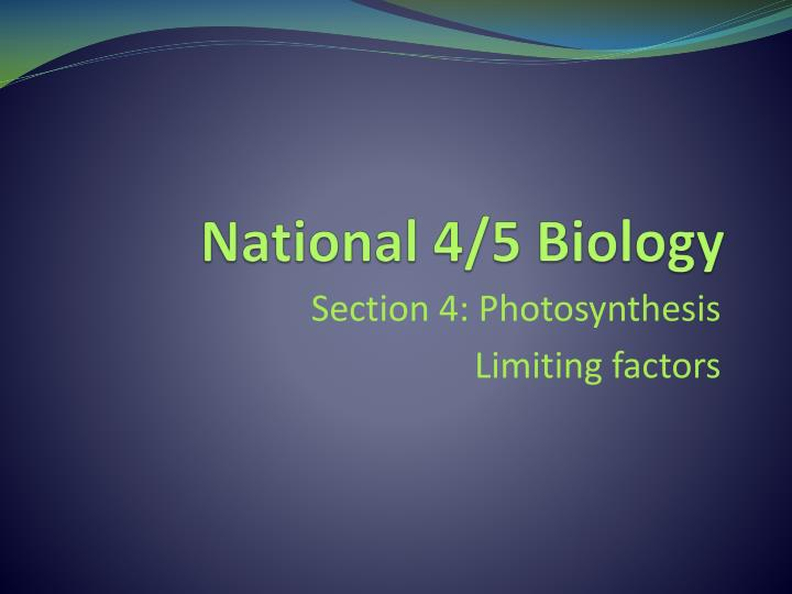 National 4 5 biology
