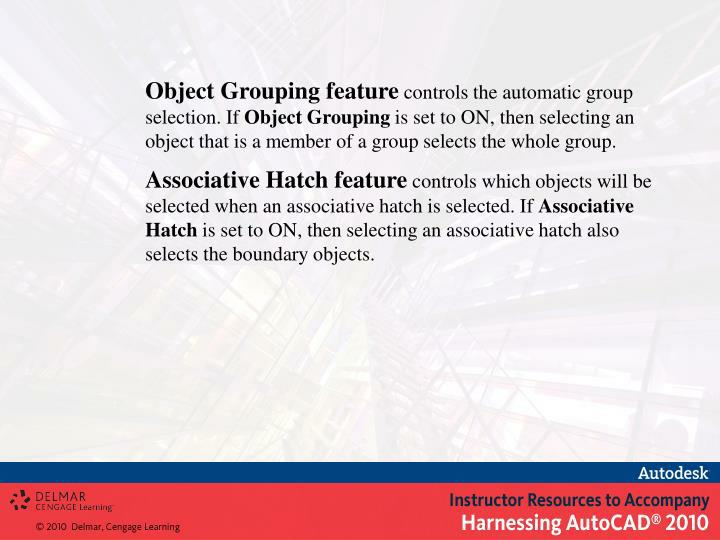 Object Grouping feature