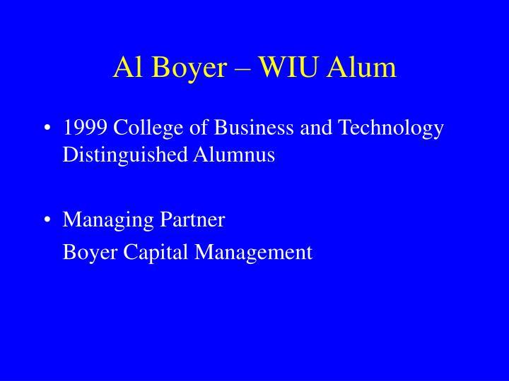 Al Boyer – WIU Alum