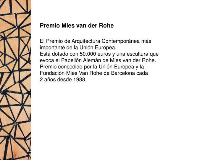 Premio Mies van der Rohe