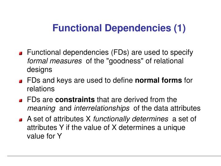 Functional Dependencies (1)