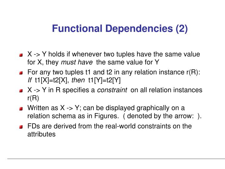 Functional Dependencies (2)