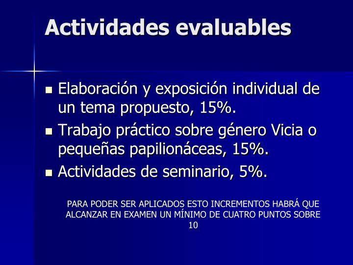 Actividades evaluables